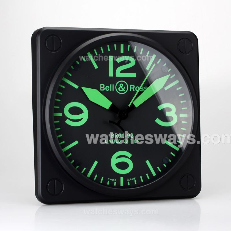 Replik Bell & Ross BR01-92 Wall Clock with Yellow Markers 133532