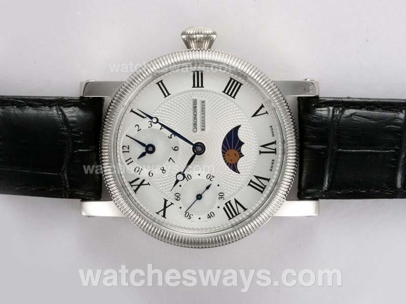 Réplique Chronoswiss Montre Regulateur Unitas 6497 Avec Moonphase 12012