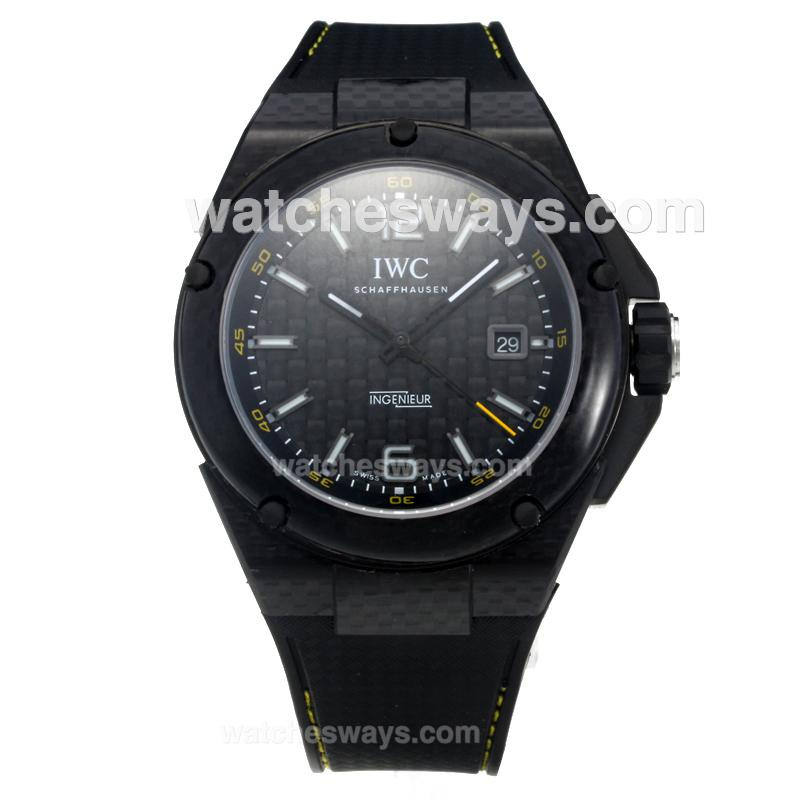 Replik IWC InGenieur Automatic PVD Case with Black Carbon Fibre Style Dial-Same Chassis as Swiss Version 214978