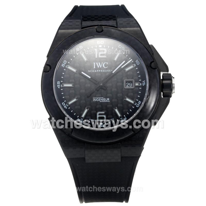 Replik IWC InGenieur Automatic PVD Case with Black Carbon Fibre Style Dial-Same Chassis as Swiss Version-1 214976