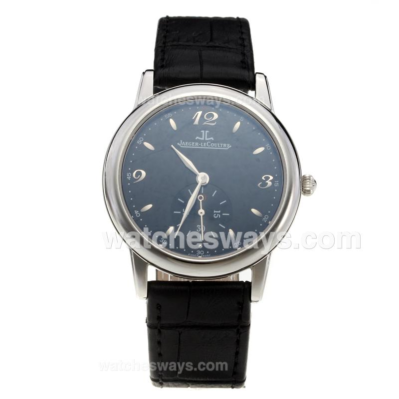 Replik Jaeger-Lecoultre Master with Black Dial-Leather Strap 218932