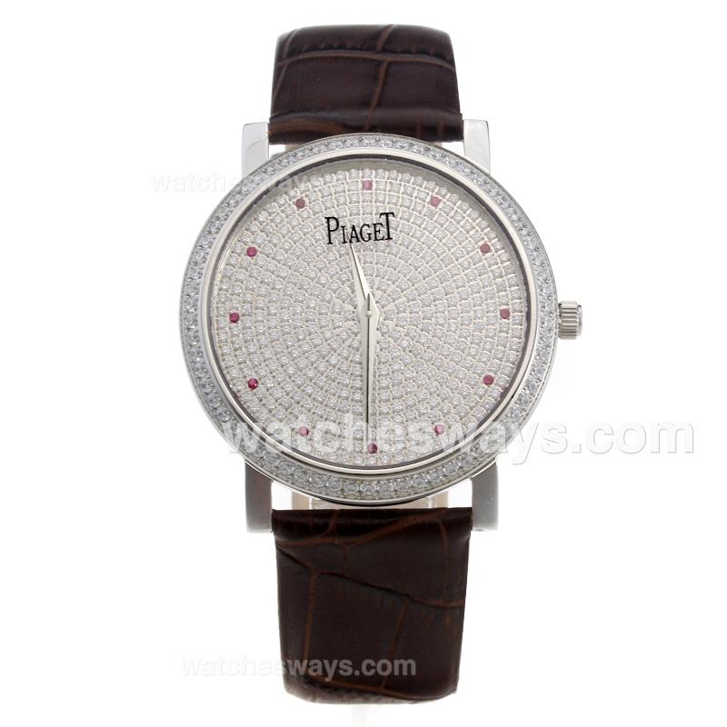 Réplique Piaget Altiplano Montre Swiss Eta Mouvement Lunette Sertie De Diamants Et Le Cadran - Marques Rouges Couple De Montre 220178