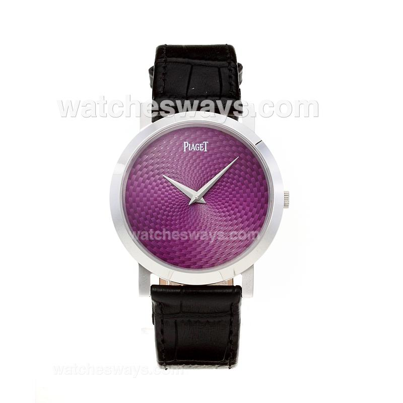 Replik Piaget Altiplano with Purple Dial-Leather Strap 211540