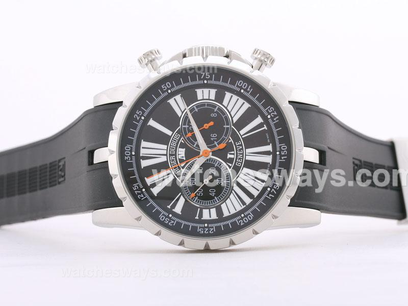 Replik Roger Dubuis Excalibur Chrono Working Chronograph with Black Dial 29367