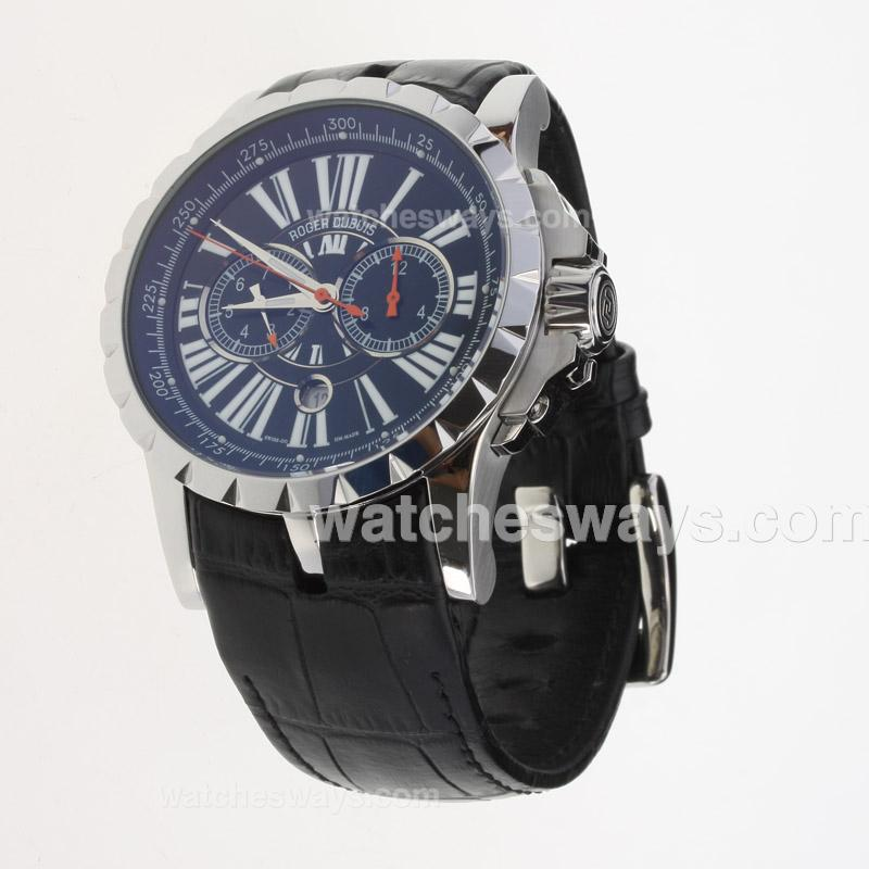 Replik Roger Dubuis Excalibur Automatic with Black Dial-Leather Strap 224146