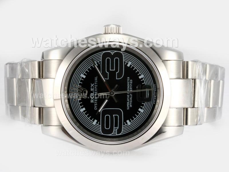 Replik Rolex Air-King Oyster Perpetual Automatic with Black Dial 2 16201