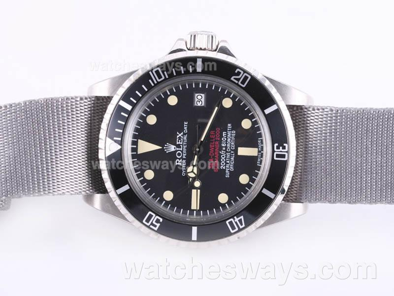 Replik Rolex Sea Dweller Submariner 2000 Ref.1665 Vintage Edition-Gray Nylon Strap 23281