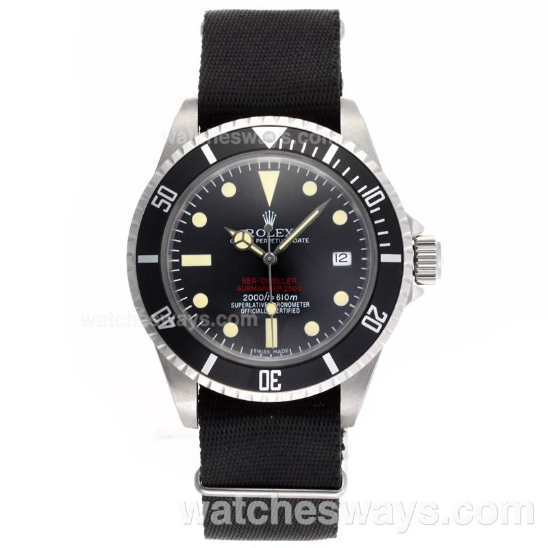 Réplique Rolex Sea-Dweller Montre Submariner 2000 Ref.1665 Édition Automatique Vintage - Bracelet En Nylon Noir 23286