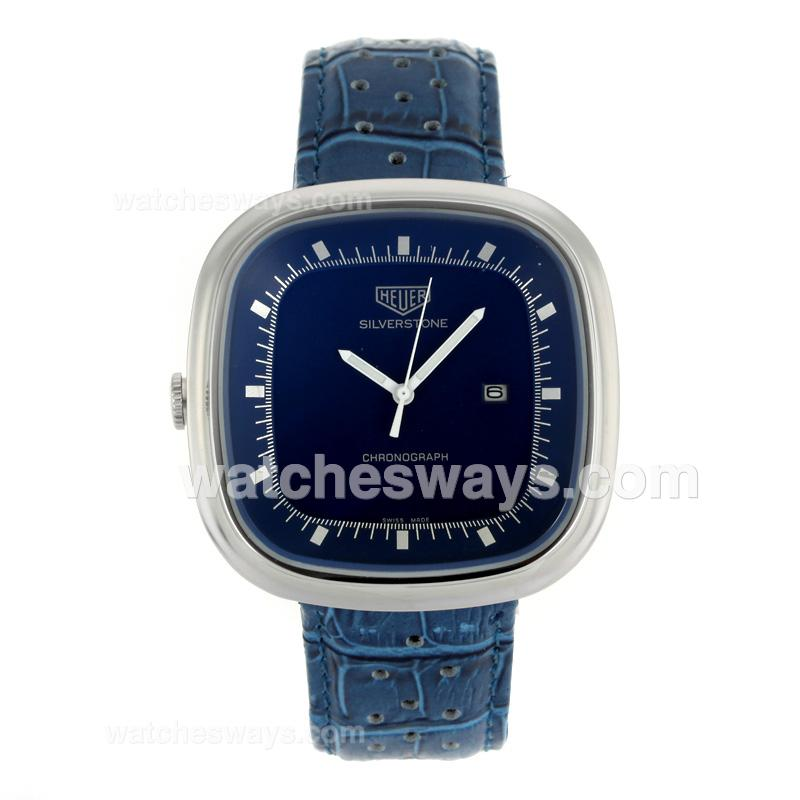 Replik Tag Heuer Silverstone with Blue Dial Blue Leather Strap 103284