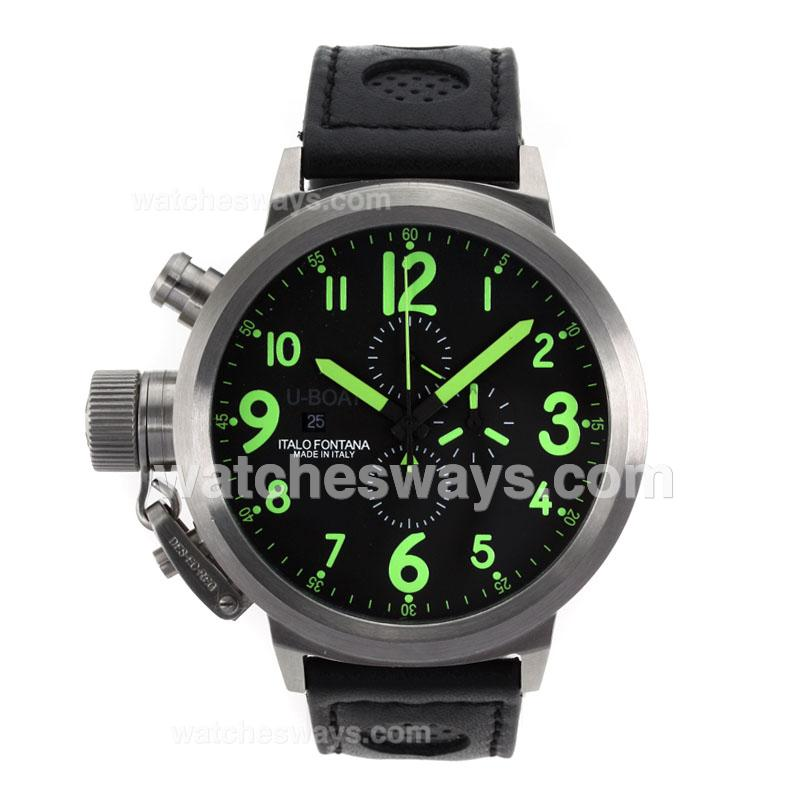 Replik U-Boat FlightDeck 50mm Working Chronograph with Green Marking-Updated Version 26203
