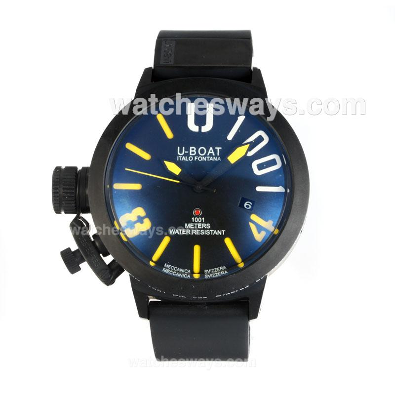 Replik U-Boat Italo Fontana Automatic Full PVD with Black Dial Yellow Markers 167092