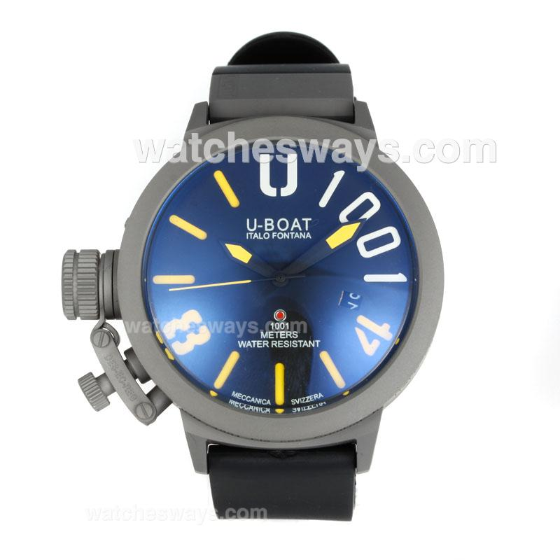 Replik U-Boat Italo Fontana Automatic Titanium Case with Black Dial Yellow Markers 167090