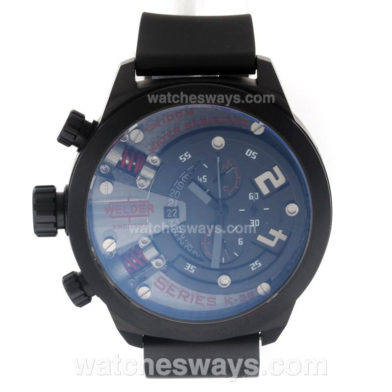 Replik Welder Working Chronograph PVD Case with Black Dial-Red Edition 220392