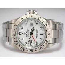 Replique Rolex Explorer II Montre Automatique GMT travail avec la version cadran blanc de mise à niveau - Attractive Rolex Explorer Montre pour vous 24229