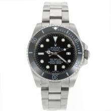 Replique Rolex Sea-Dweller automatique lunette en céramique avec cadran noir S / S - Attractive montre Rolex Sea Dweller 24908 pour vous