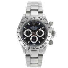 Replique Rolex Daytona marqueurs de travail de bâton chronographe avec cadran bleu foncé - Belle Rolex Daytona Montre pour vous 23155