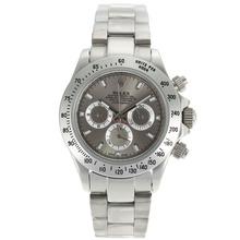Replique Rolex Daytona marqueurs de travail de bâton chronographe avec cadran gris Rolex Daytona - Montres attrayant pour vous 23154