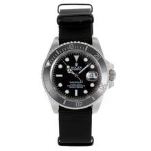 Replique Rolex Submariner Lunette Céramique automatique avec cadran noir-verre de saphir - Attractive montre Rolex Submariner 25037 pour vous