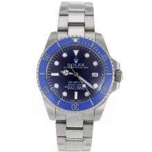 Replique Rolex Sea-Dweller automatique avec lunette en céramique bleue et Dial S / S-verre de saphir - Attractive montre Rolex Sea Dweller 24899 pour vous
