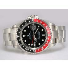 Replique Rolex GMT-Master II automatique rouge avec Noir Lunette-Cadran Noir - Attractive Rolex GMT Regarder pour vous 24427