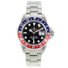 Replique Rolex GMT-Master II automatique rouge avec le bleu lunette-cadran noir - Attractive Rolex GMT Regarder pour vous 24426