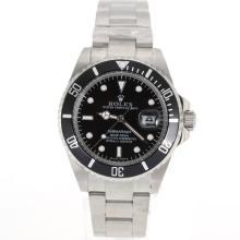 Replique Rolex Oyster Perpetual Submariner Date d'automatique avec cadran noir et lunette - Attractive montre Rolex Submariner 25246 pour vous