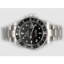 Replique Rolex GMT-Master II 50e anniversaire automatique avec cadran noir et lunette - Attractive Rolex GMT Regarder pour vous 24425