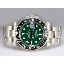 Replique Rolex GMT-Master II 50e anniversaire suisse ETA Mouvement Cadran 2836 vert avec panneau noir - Attractive Rolex GMT Regarder pour vous 24424