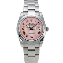 Replique Rolex Datejust automatique des marqueurs romains avec cadran S / S Pink - Montre Rolex DateJust attrayant pour vous 20215