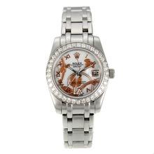 Replique Rolex Masterpiece automatique Diamond Bezel avec cadran blanc MOP S / S-Fleurs-Taille de l'Illustration - Belle Montre Rolex Masterpiece pour vous 24446