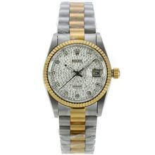 Replique Rolex Datejust automatique Two Tone avec cadran blanc - Attractive montre Rolex DateJust pour vous 20214