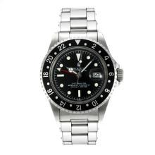 Replique Rolex GMT-Master Swiss ETA 2836 Mouvement édition de cru avec cadran noir Blanc Marqueurs Bracelet-Rivet - Attractive Rolex GMT Regarder pour vous 24248