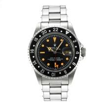 Replique Rolex GMT-Master Swiss ETA 2836 Mouvement édition de cru avec cadran noir orange marqueurs-Rivet Strap - Attractive Rolex GMT Regarder pour vous 24247