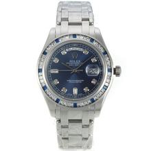 Replique Rolex Masterpiece automatique CZ Diamond Bezel avec cadran bleu-diamant Marqueurs S / S-même châssis que la version ETA - Montres Rolex Masterpiece attrayant pour vous 24445
