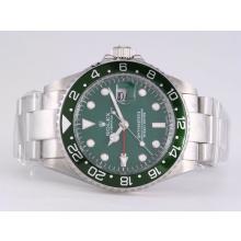 Replique Rolex GMT-Master II automatique avec lunette GMT travail vert et Dial - Attractive Rolex GMT Regarder pour vous 24422
