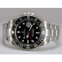 Replique Rolex GMT-Master II 50e anniversaire automatique avec cadran noir et lunette - Attractive Rolex GMT Regarder pour vous 24421