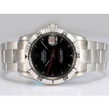 Replique Rolex Datejust Turn-O-Graph suisse ETA 2836 Mouvement avec cadran noir - Attractive montre Rolex DateJust pour vous 21952