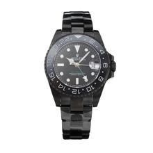Replique Rolex GMT Master Pro Hunter automatique complet PVD avec cadran noir-Taille - Attractive Rolex GMT Regarder pour vous 24240