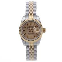Replique Rolex Datejust automatique Two Tone avec cadran doré - Attractive montre Rolex DateJust pour vous 21950