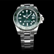 Replique Rolex GMT-Master II automatique avec lunette en céramique verte cadran vert (boîte-cadeau est inclus) - Attractive Rolex GMT Regarder pour vous 24238
