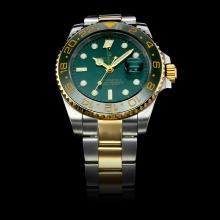 Replique Rolex GMT-Master II automatique Two Tone lunette verte en céramique avec cadran vert (boîte-cadeau est inclus) - Attractive Rolex GMT Regarder pour vous 24237