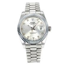 Replique Rolex Datejust II automatique avec Cadran Argent S / S-Diamond Markers - Attractive Rolex Datejust II montre pour vous 22045