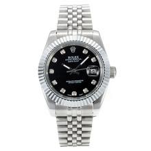 Replique Rolex Datejust II automatique avec cadran noir S / S-Diamond Markers - Attractive Rolex Datejust II montre pour vous 22042