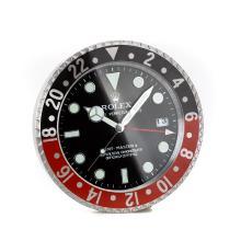 Replique Rolex GMT-Master II Noir / Rouge Horloge murale lunette avec cadran noir - Attractive Rolex GMT Regarder pour vous 24233