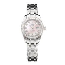 Replique Rolex Masterpiece automatique Diamond Bezel et marqueurs avec MOP Dial-Dame Rose Taille - Belle Montre Rolex Masterpiece pour vous 24428