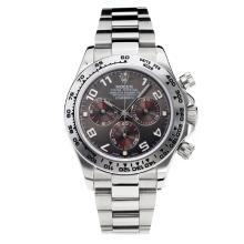 Replique Rolex Oyster Perpetual Swiss Valjoux 7750 Mouvement En savoir lumineuse Dark Grey Dial S / S-verre de saphir - Attractive autres Rolex Regarder pour vous 24880