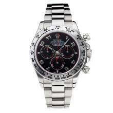 Replique Rolex Oyster Perpetual Swiss Valjoux 7750 Mouvement avec cadran noir super lumineuse S / S-verre de saphir - Attractive autres Rolex Regarder pour vous 24879