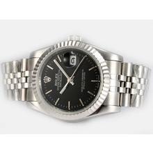 Replique Rolex Datejust automatique avec cadran noir - Attractive montre Rolex DateJust pour vous 21910