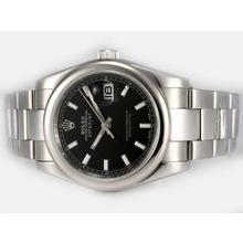 Replique Rolex Datejust automatique avec cadran noir - Attractive montre Rolex DateJust pour vous 21907