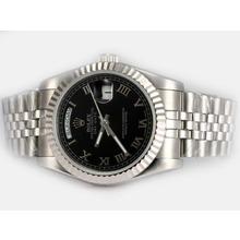 Replique Rolex Day-Date automatique avec cadran noir-romaine de marquage - Attractive montre Rolex Day Date 22590 pour vous